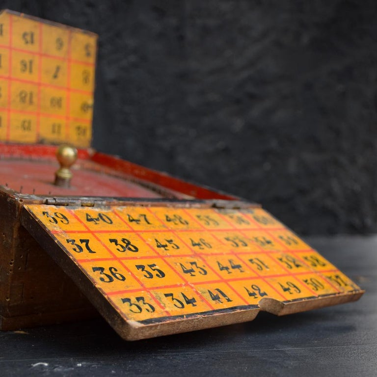 Rare Illegal Early 20th Century Folk Art English Gambling Roulette Bar Game 5
