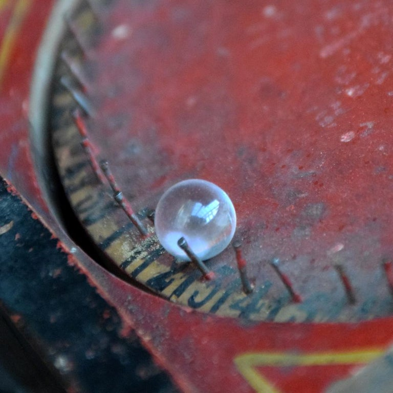 Rare Illegal Early 20th Century Folk Art English Gambling Roulette Bar Game 8