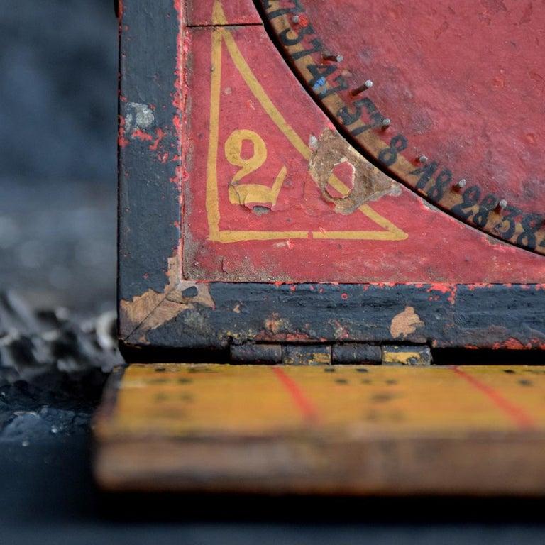 Rare Illegal Early 20th Century Folk Art English Gambling Roulette Bar Game 9