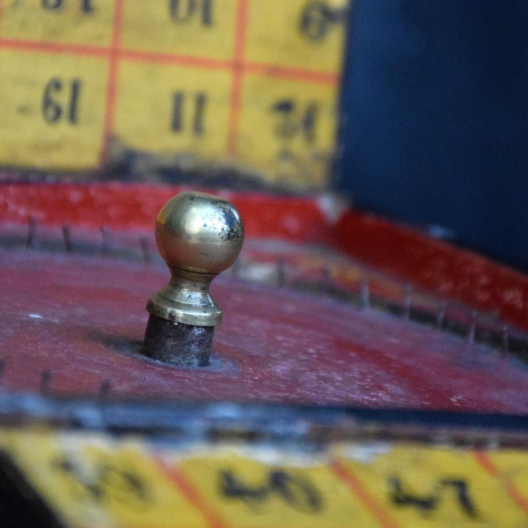 Rare Illegal Early 20th Century Folk Art English Gambling Roulette Bar Game 2
