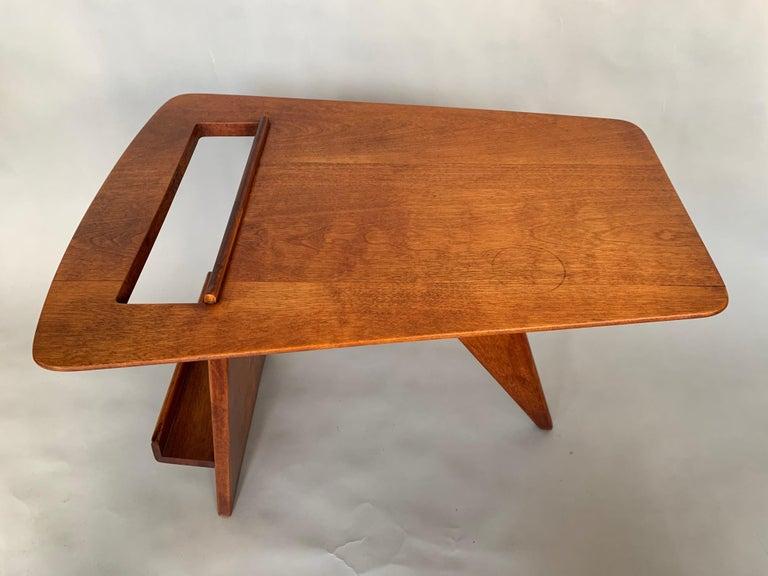 Mid-Century Modern Rare Jens Risom Magazine Table For Sale