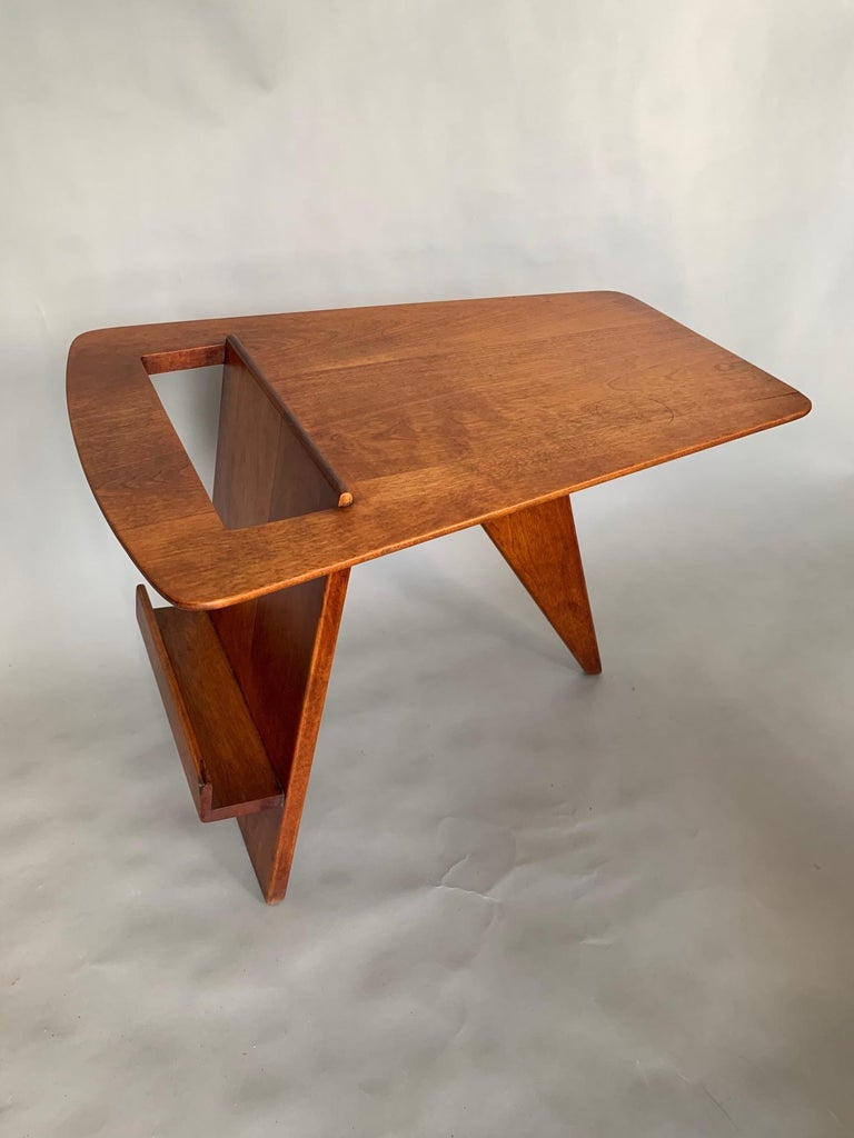 American Rare Jens Risom Magazine Table For Sale