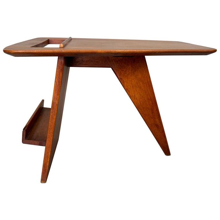 Rare Jens Risom Magazine Table For Sale