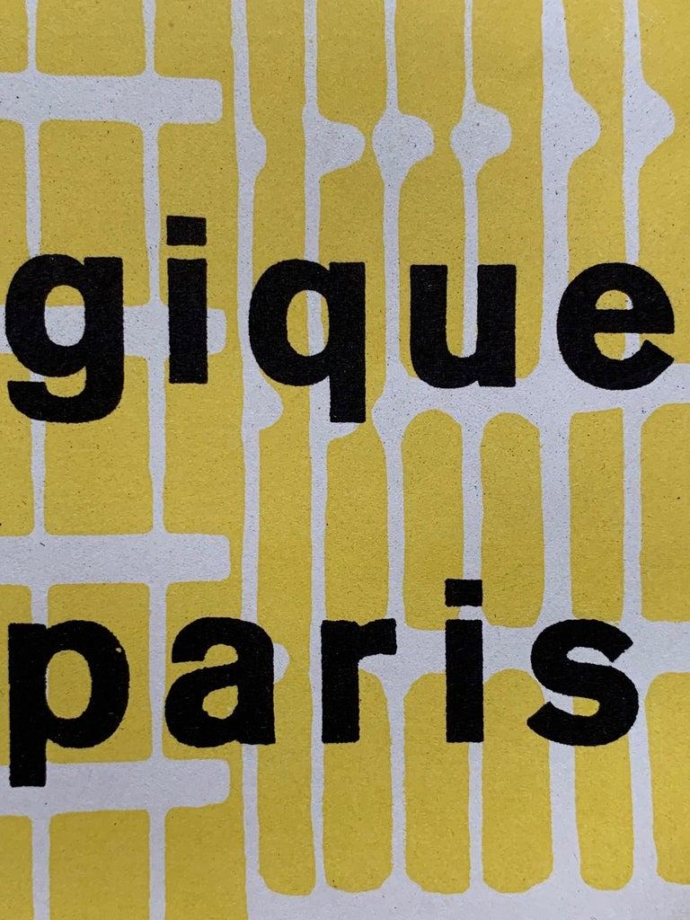 Mid-20th Century Rare Mies van der Rohe Exibition Poster Paris, 1950s For Sale