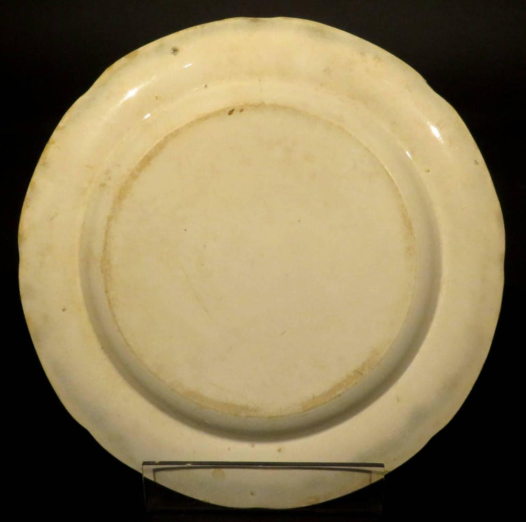 Rare Pair of 19th Century Herculaneum Pottery Plates, Liverpool, circa 1805 For Sale 1