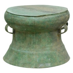 Rare Ritual Archaic Don Song Bronze Rain Drum from Vietnam 3rd Century B.C.