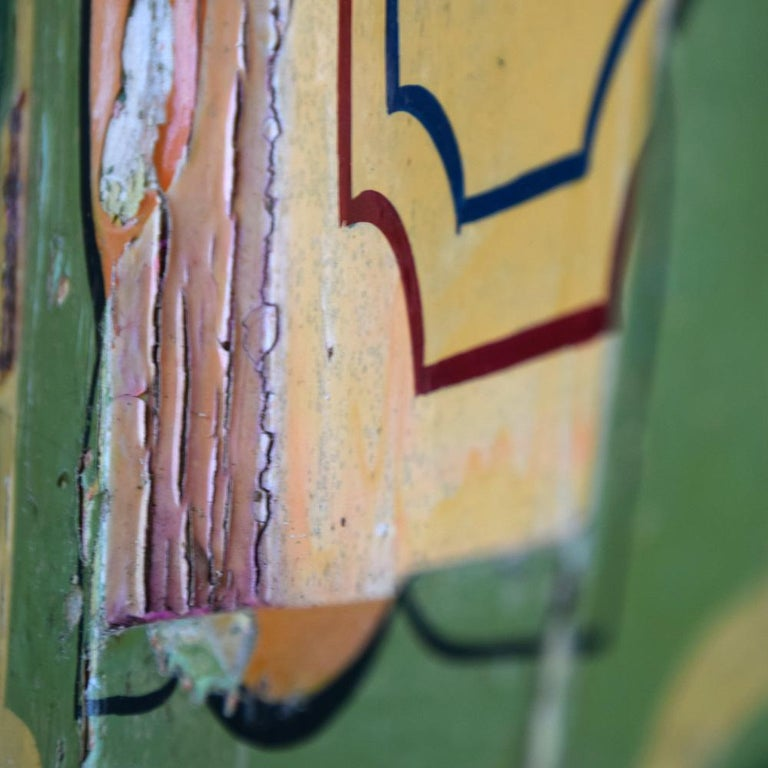 Rare Set of 7 Mid-20th Century English Fairground Carousel Panels For Sale 5