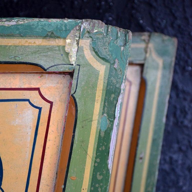 Rare Set of 7 Mid-20th Century English Fairground Carousel Panels For Sale 7