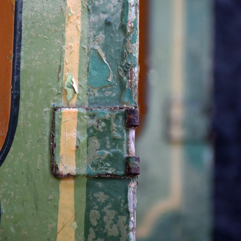 Rare Set of 7 Mid-20th Century English Fairground Carousel Panels For Sale 8