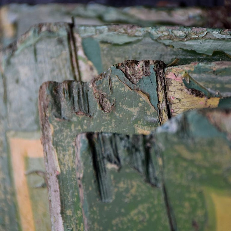 Rare Set of 7 Mid-20th Century English Fairground Carousel Panels For Sale 2