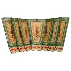 Rare Set of 7 Mid-20th Century English Fairground Carousel Panels