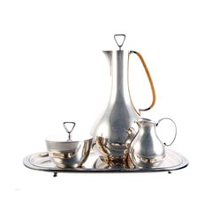 Rare Sterling Silver Coffee Service by Sigvard Bernadotte for Georg Jensen