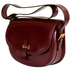 A Rare Vintage Hermes 'Balle de Golf' Box Calfskin Shoulder Bag