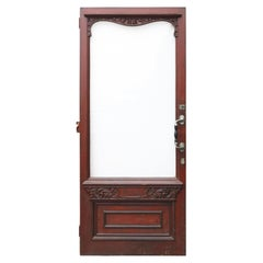 A Reclaimed Hardwood Exterior Door