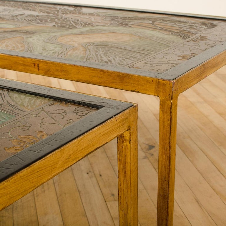 Early 20th Century Rectangular Coffee Table with Antique Chinoiserie Decorated Top For Sale