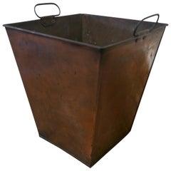 A Rectangular Copper Waste Paper Bin