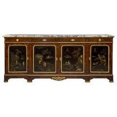 Régence Style Lacquer Mounted Side Cabinet by Maison Krieger, circa 1880