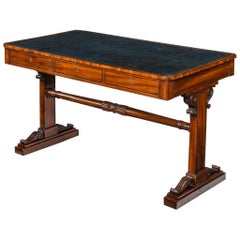 Regency Mahogany End Support Library Table
