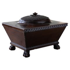 Regency Mahogany Sarcophagus Form Wine Cooler