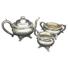 Regency Old Sheffield Plate English Tea Set, circa 1818