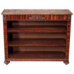 Regency Period Coromandel Open Bookcase