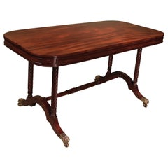 Regency Period End Support Writing Table Stamped Gillows
