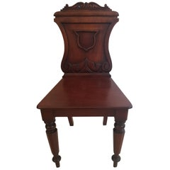 Regency Period Mahogany Hall Chair