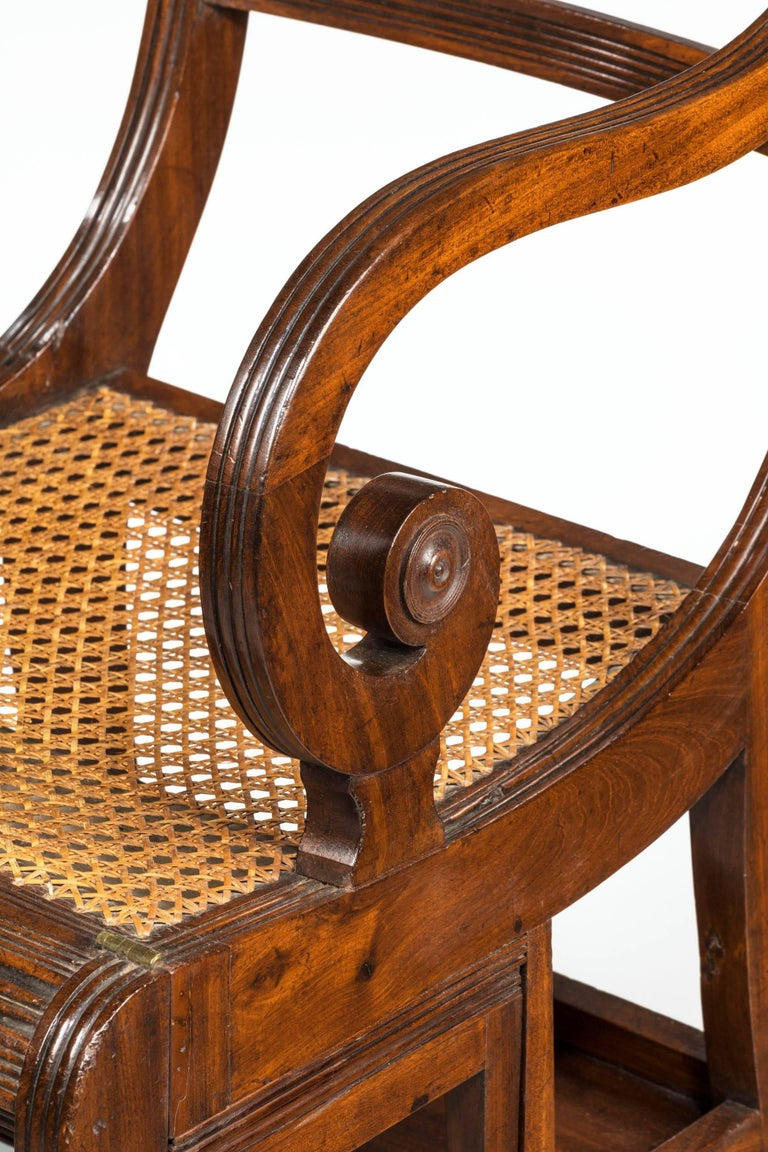 Mahogany Regency Period Metamorphic Library Chair For Sale