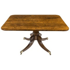 Regency Rectangular Rosewood Tilt-Top Table Attributed to Gillows