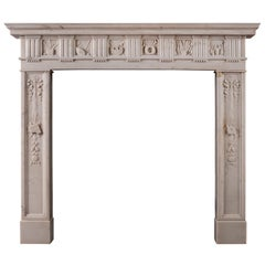 Regency Statuary Marble Fireplace of the Finest Quality