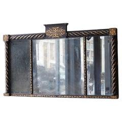 A Regency Tryptic Overmantel Mirror