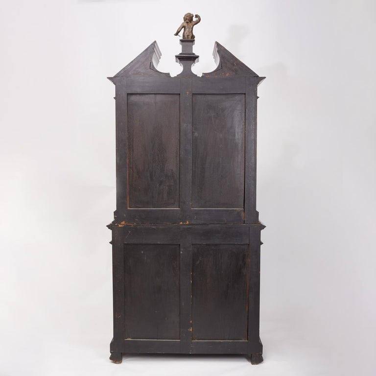 Renaissance Revival Ebonized Cabinet with Exquisite Enameled Copper For Sale 1