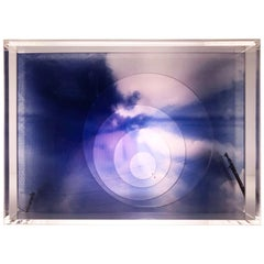Renda 'The Lace', Electrical Light Box Made of Multiple Exposure Photograph