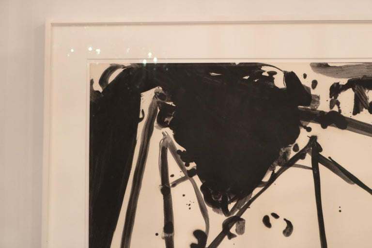 Painted Robert Motherwell, Drunk with Turpentine No. 21 For Sale