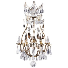 Rock Crystal Louis XV Style Chandelier, 19th Century