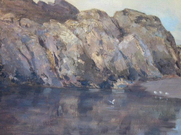 Rocky Seascape by Harry Macgregor Signed & Dated 1927 In Good Condition For Sale In Ottawa, Ontario