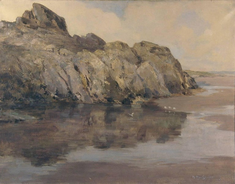 20th Century Rocky Seascape by Harry Macgregor Signed & Dated 1927 For Sale