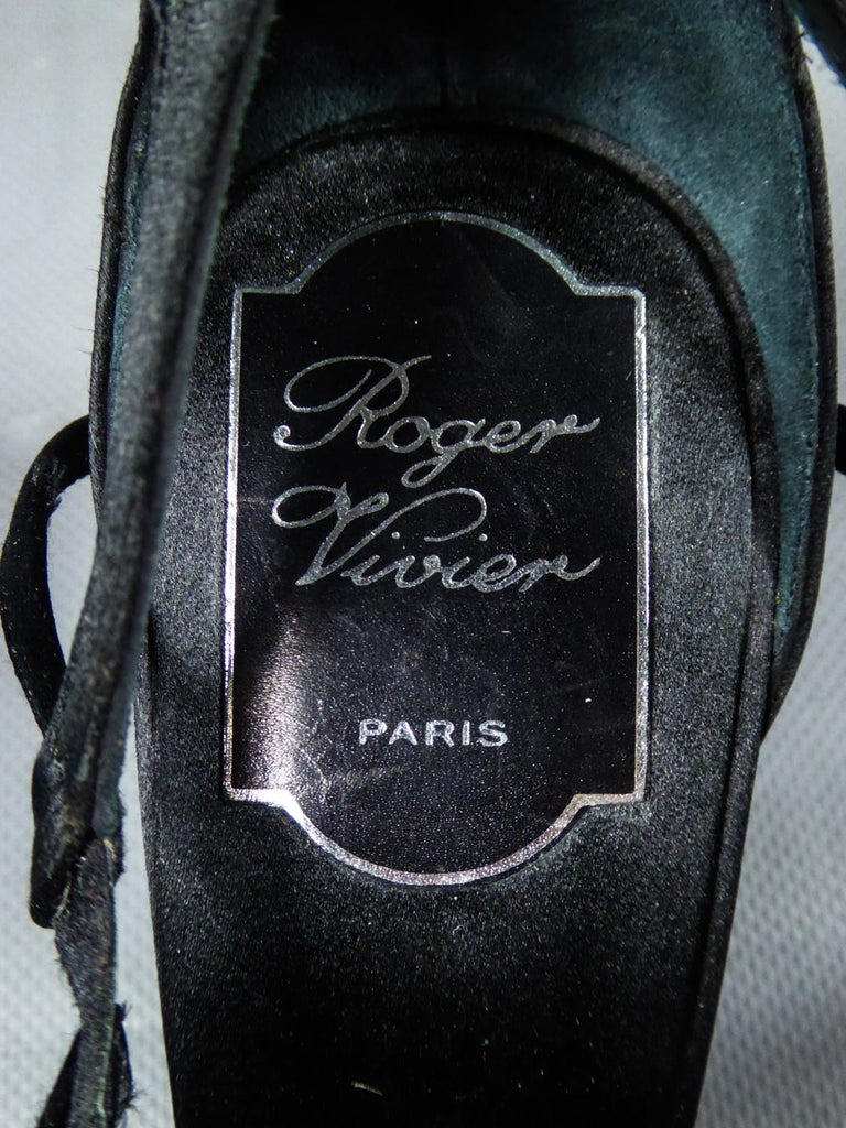 A Roger Vivier Pair of Evening Heels Shoes Circa 2000 For Sale 7