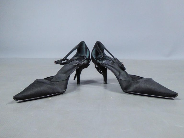 A Roger Vivier Pair of Evening Heels Shoes Circa 2000 For Sale 8