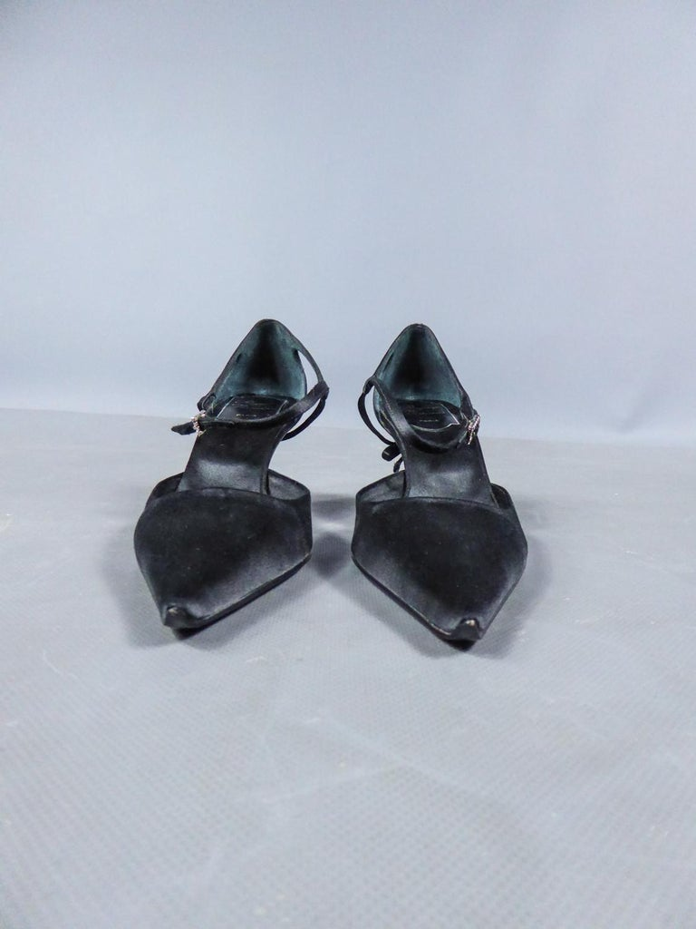 Black A Roger Vivier Pair of Evening Heels Shoes Circa 2000 For Sale