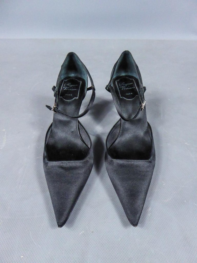 A Roger Vivier Pair of Evening Heels Shoes Circa 2000 In New Condition For Sale In Toulon, FR