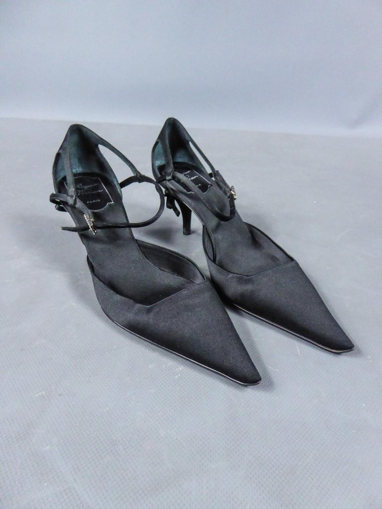 Women's A Roger Vivier Pair of Evening Heels Shoes Circa 2000 For Sale