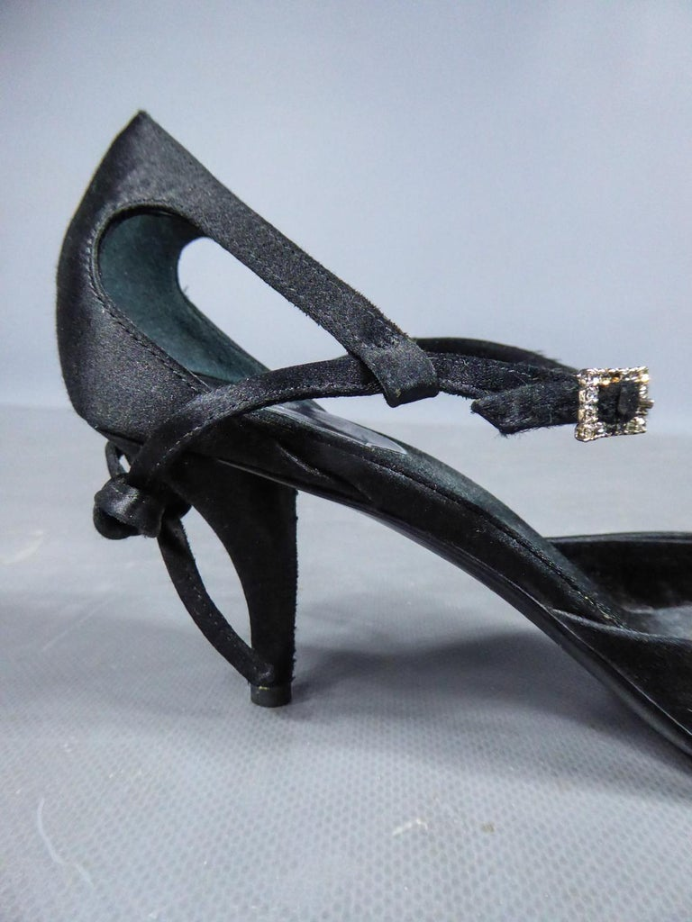 A Roger Vivier Pair of Evening Heels Shoes Circa 2000 For Sale 4