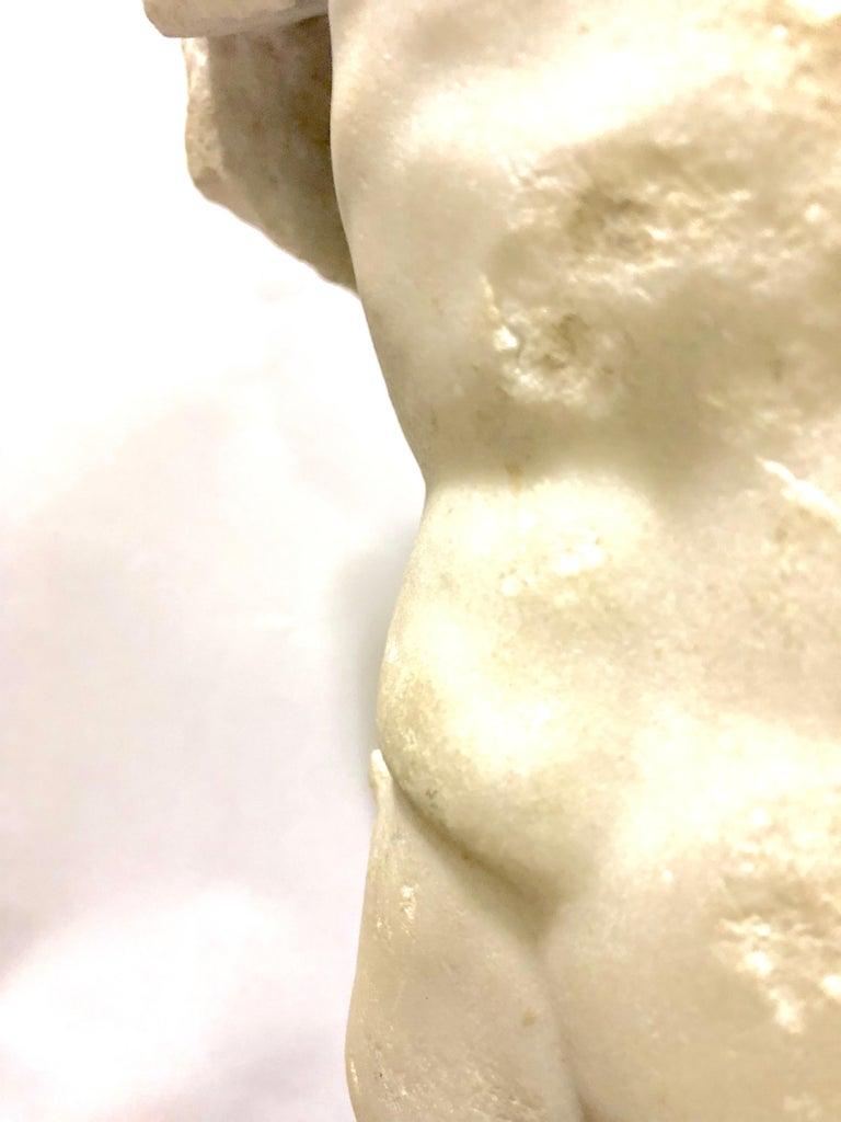 A Roman Marble Male Torso, circa 2nd Century AD 4