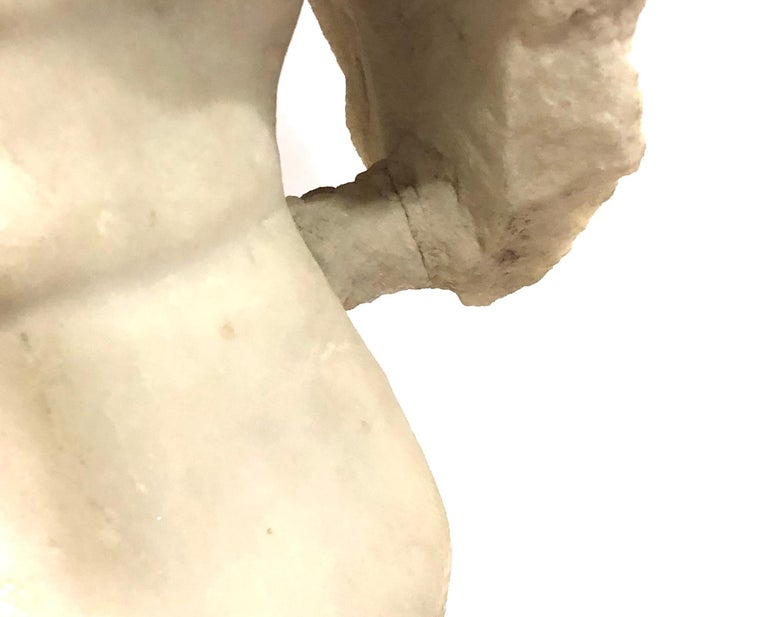 Carved A Roman Marble Male Torso, circa 2nd Century AD For Sale