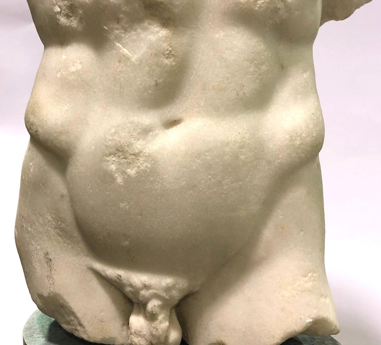 18th Century and Earlier A Roman Marble Male Torso, circa 2nd Century AD For Sale