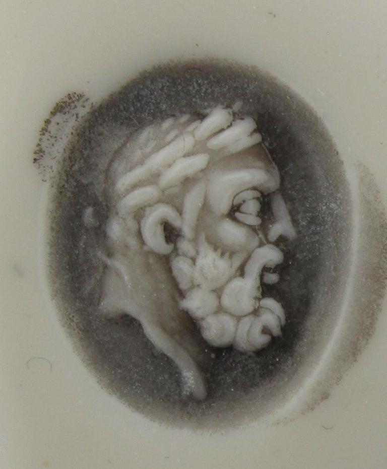 Classical Roman Roman Nicolo Intaglio Portrait of Hercules Ring For Sale