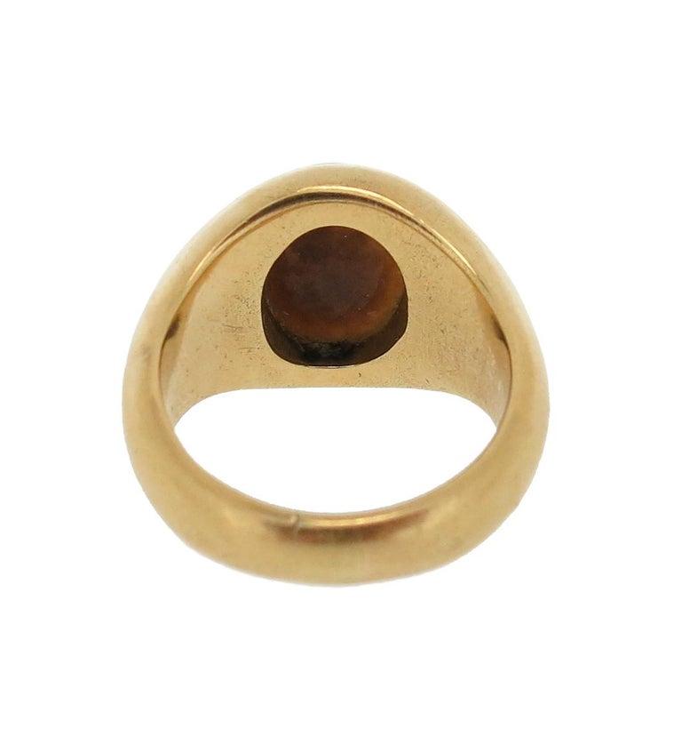 Roman Nicolo Intaglio Portrait of Hercules Ring In Excellent Condition For Sale In Firenze, IT