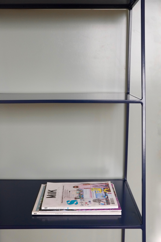 Modern Bookcase Room Divider Minimal Steel Shelves