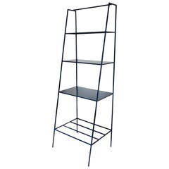 Modern Bookcase Room Divider - Minimal Steel Metal Shelving